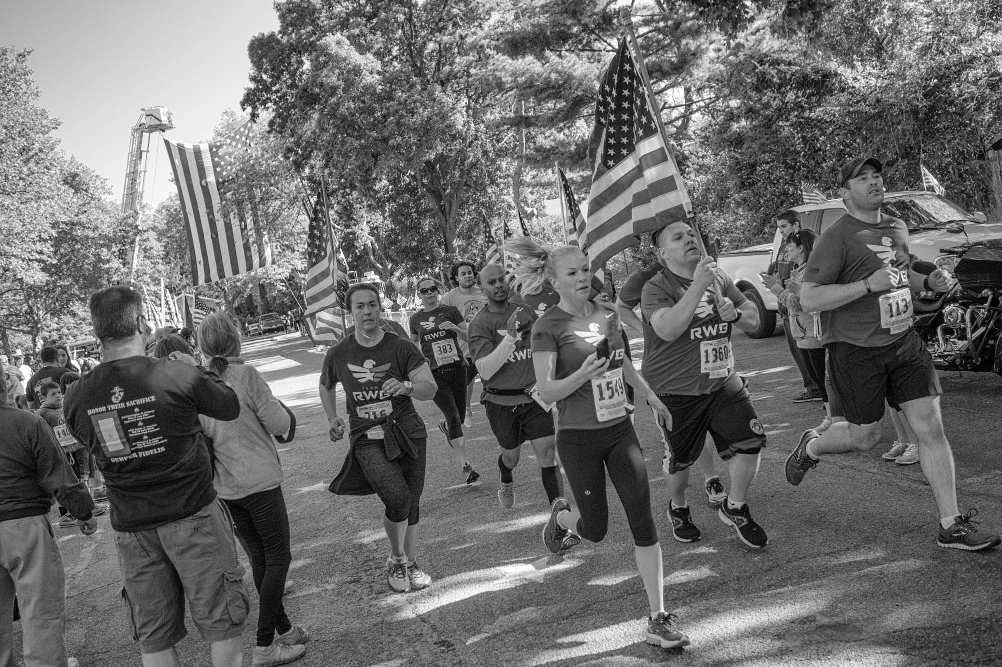 A veterans group running to honor the fallen