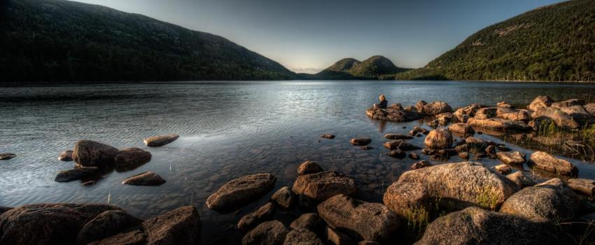 Golden Hour at Jordan Pond