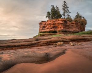 Burntcoat Head on the Bay of Fundy, Nova Scotia, Canada