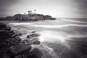 Nubble Light in BW
