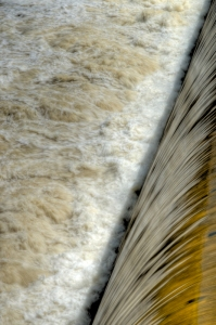 Water over the Great Dam