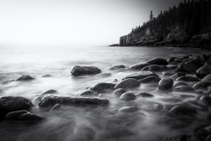 Otter Cliff in BW
