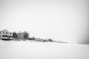 Snowstorm and Beach Cottages