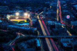 Fenway Park and Kenmore Square