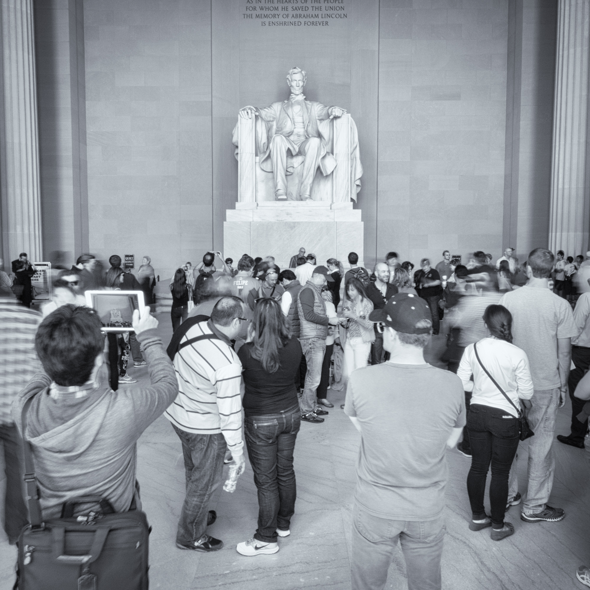 At the Lincoln Memorial