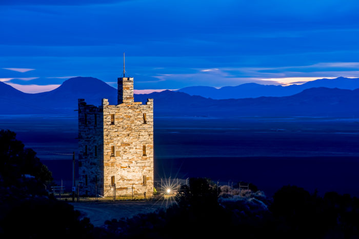 Stokes Castle in Austin, Nevada