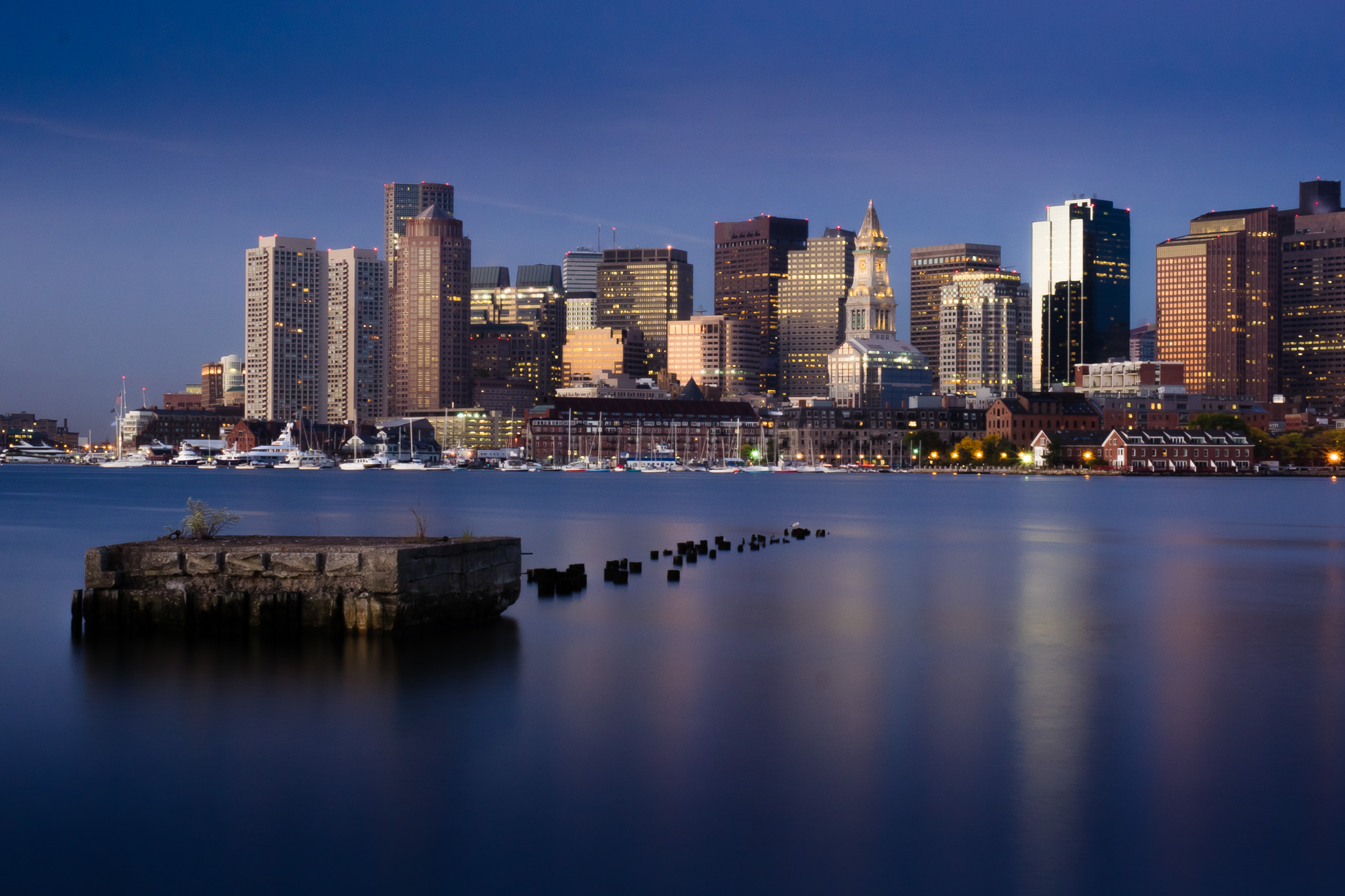 The Boston Skyline from Fan Pier